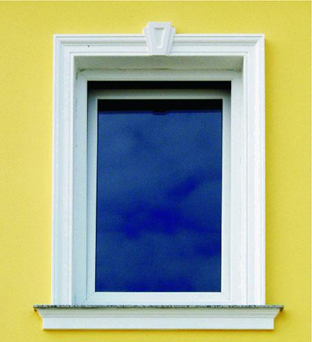 Fensterbrett-Fassade